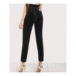 Pantalón de Pinzas Terciopelo negro