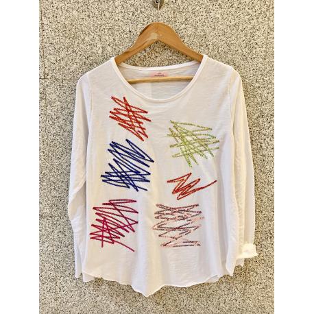 Camiseta Lentejuela Zigzag