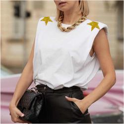 Camiseta Hombreras Estrellas