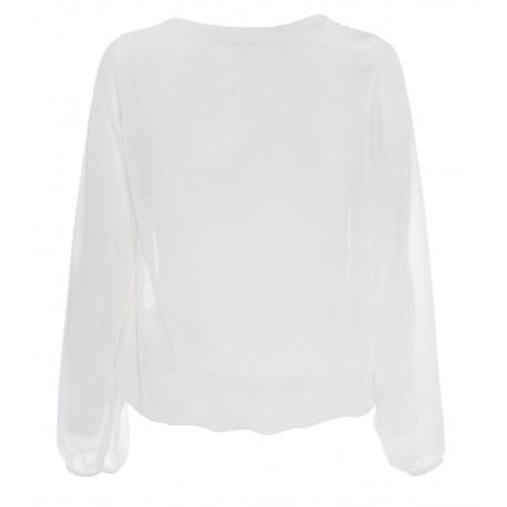 Camisa Murciélago Gasa Blanca